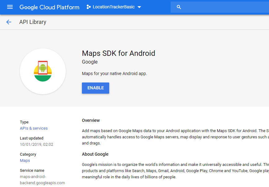 Generate Google Maps SDK API Key for Android App - Digital World